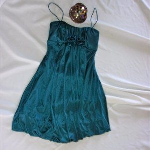 womans extra small green blue dance formal dress